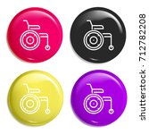 wheelchair multi color glossy...