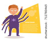 child costume for halloween.... | Shutterstock .eps vector #712783465