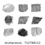 set of hand drawn scribble... | Shutterstock .eps vector #712788112