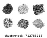 set of hand drawn scribble... | Shutterstock .eps vector #712788118