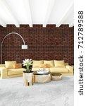 vertical bedroom minimal or... | Shutterstock . vector #712789588
