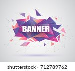 abstract crystal 3d faceted... | Shutterstock .eps vector #712789762