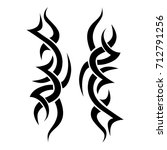tattoo tribal vector design.... | Shutterstock .eps vector #712791256