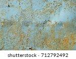 rusty metal texture | Shutterstock . vector #712792492