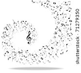 music notes background   Shutterstock . vector #71279350
