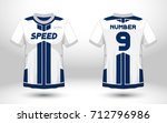 blue and white layout football... | Shutterstock .eps vector #712796986