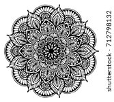 mandalas for coloring book.... | Shutterstock .eps vector #712798132