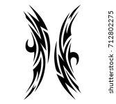 tribal pattern vector tattoo... | Shutterstock .eps vector #712802275