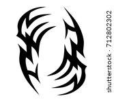 tattoo tribal vector design.... | Shutterstock .eps vector #712802302