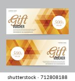 gift voucher flyer template for ... | Shutterstock .eps vector #712808188