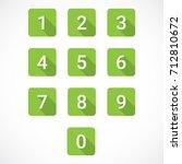 set of 0 9 numbers | Shutterstock .eps vector #712810672
