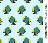 vector seamless pattern from... | Shutterstock .eps vector #712811482