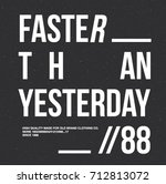 faster sport type message | Shutterstock .eps vector #712813072