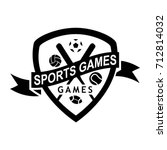 sport game logo design in a... | Shutterstock .eps vector #712814032