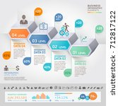 business infographics design... | Shutterstock .eps vector #712817122