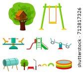play garden set icons in... | Shutterstock .eps vector #712817326