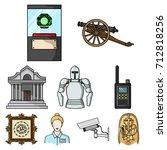 museum set icons in cartoon... | Shutterstock .eps vector #712818256