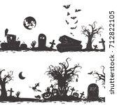 halloween magic collection ... | Shutterstock .eps vector #712822105
