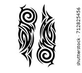 tribal tattoo art designs.... | Shutterstock .eps vector #712825456