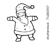 santa claus cartoon | Shutterstock .eps vector #71282557