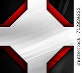 abstract metal design background | Shutterstock . vector #712826332