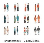 people from all over the world... | Shutterstock .eps vector #712828558