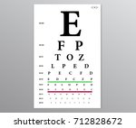 optical vision test. test table ... | Shutterstock .eps vector #712828672