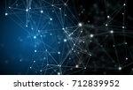 plexus structure. abstract... | Shutterstock . vector #712839952