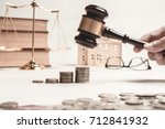 gavel of lawyer with education... | Shutterstock . vector #712841932