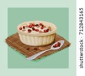 crunberry raisins walnut... | Shutterstock .eps vector #712843165