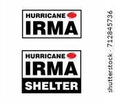 hurricane irma shelter box... | Shutterstock .eps vector #712845736