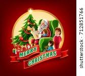 merry christmas illustration | Shutterstock .eps vector #712851766
