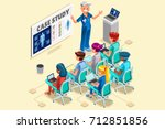 group of doctors and nurses... | Shutterstock .eps vector #712851856