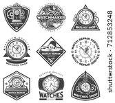 vintage watches repair service... | Shutterstock .eps vector #712853248
