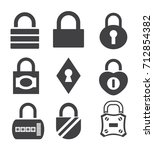 lock icon in trendy flat style...
