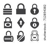 lock icon in trendy flat style...   Shutterstock .eps vector #712854382