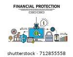 flat line vector editable... | Shutterstock .eps vector #712855558