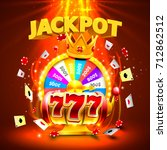 jackpot casino 777 big win... | Shutterstock .eps vector #712862512