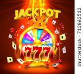 jackpot casino 777 big win... | Shutterstock .eps vector #712862512