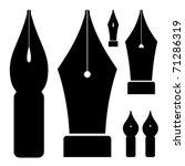 vector old ink pen nibs   Shutterstock .eps vector #71286319
