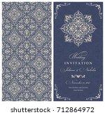 wedding invitation cards ... | Shutterstock .eps vector #712864972
