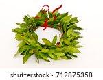 laurel graduate cap | Shutterstock . vector #712875358