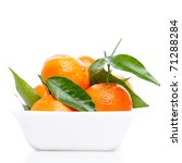 tangerines with leaves isolated ... | Shutterstock . vector #71288284