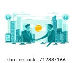 Isolated E-Business Technology Start Up Business Concept Illustration | Shutterstock vector #712887166