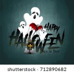 happy halloween vector... | Shutterstock .eps vector #712890682