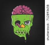 halloween character   vector... | Shutterstock .eps vector #712893658