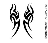 tattoo art designs tribal... | Shutterstock .eps vector #712897342