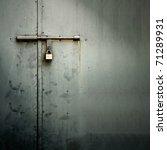 Closeup Metal Door With Lock I...