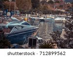 Luxury Yachts And Boats Moored...