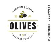 olives label on white... | Shutterstock .eps vector #712899565